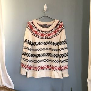 NWT Talbots Fair Isle Stripe Sweater Large Petite